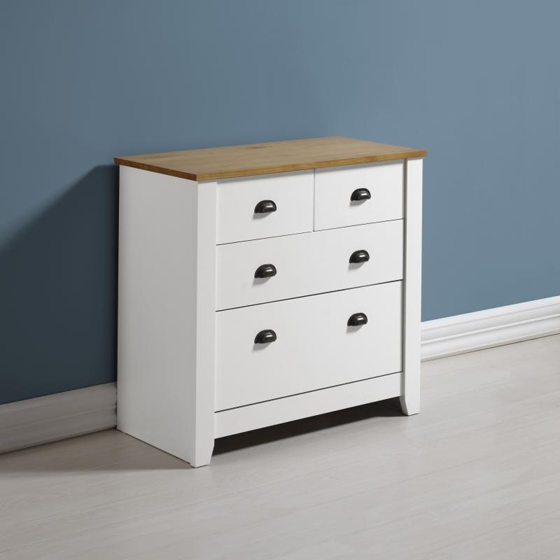 Ludlow 2+2 Drawer Chest - White