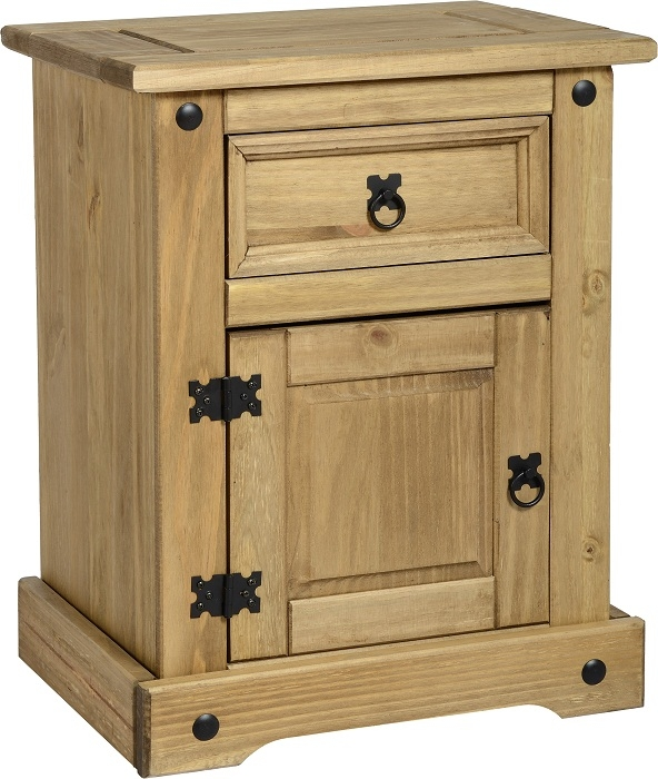 Corona 1 Drawer 1 Door Bedside Table