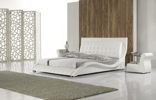 Andorra Designer Bed - White
