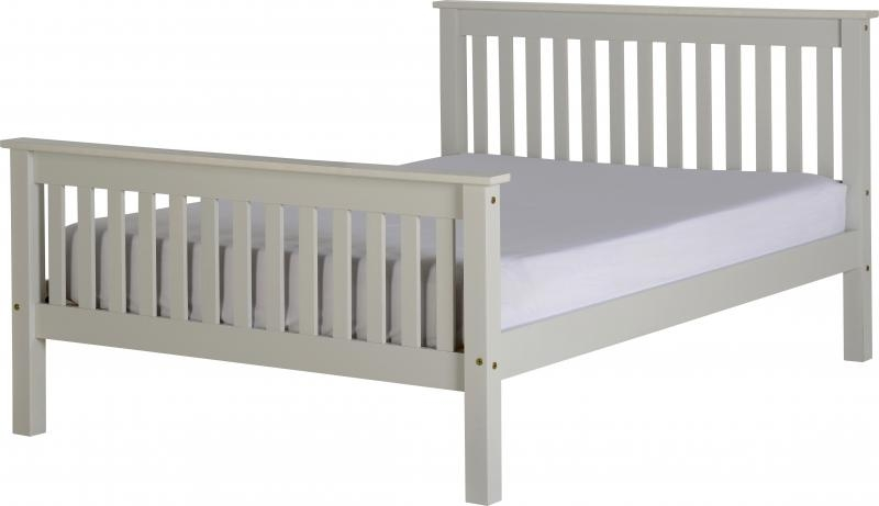 Monaco Double Bed High - Grey