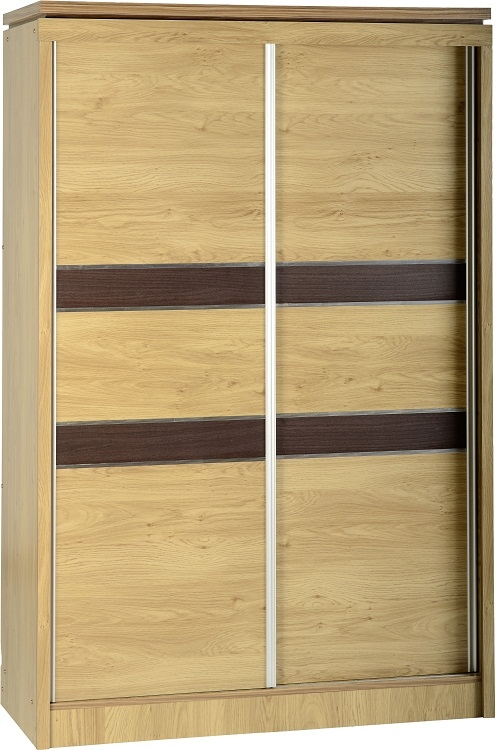 Charles Sliding Wardrobe - Oak