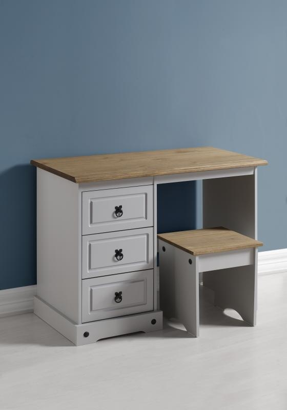 Corona Dressing Table Set - Grey