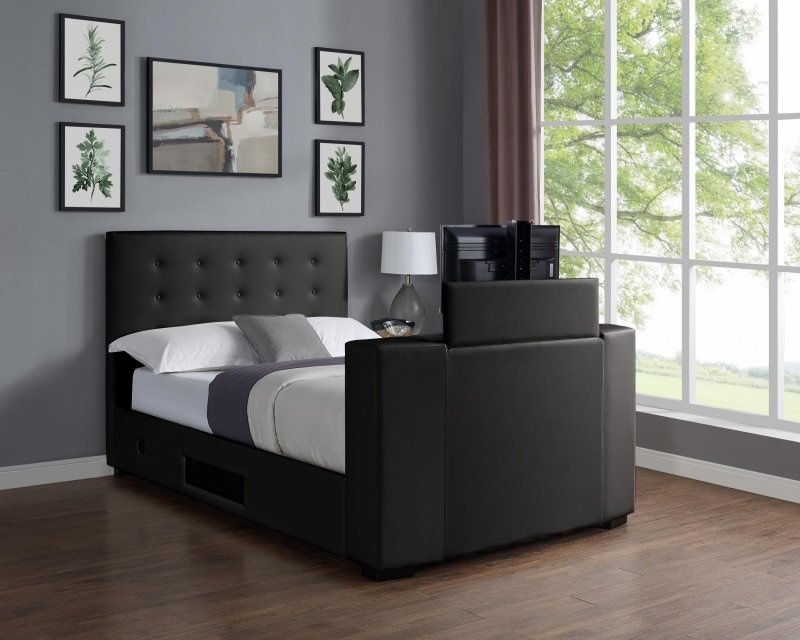 Marbella King Size Tv Bed - Black