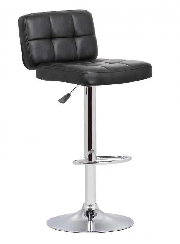 Hudson Swivel Bar Stool - Black