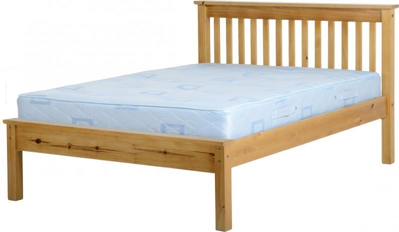 Monaco Double Bed Low - Pine