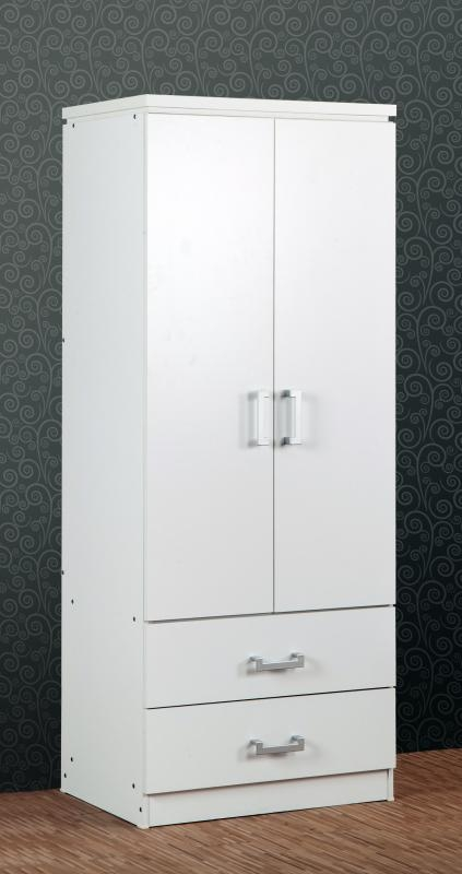Charles 2 Door Wardrobe - White