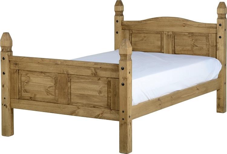 Corona Three Quarter Bed - High