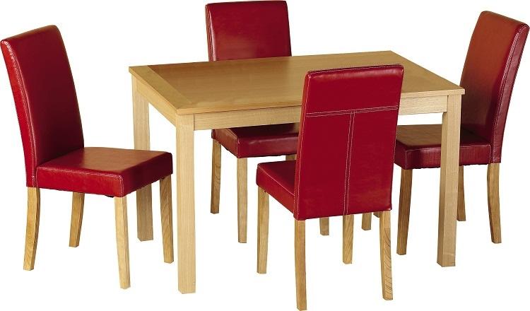 Oakmere Dining Set - Red