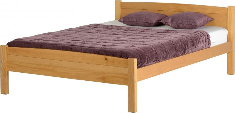 Amber Double Bed - Pine