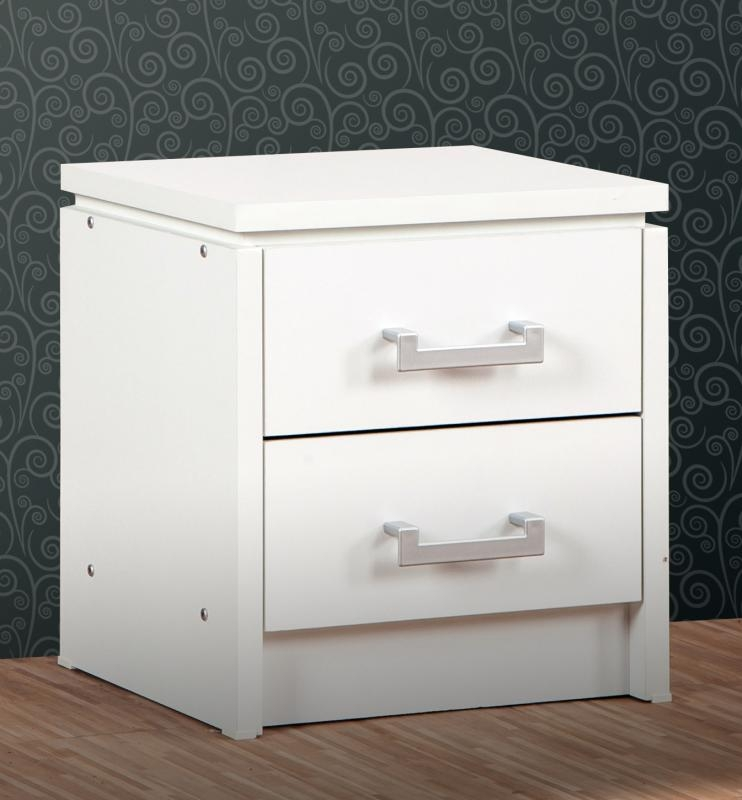 Charles Bedside Chest - White
