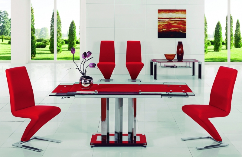 Mani 632 Ext Dining Set - Red