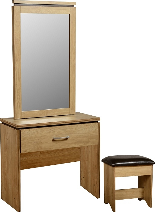 Charles 1 Drw Dressing Table - Oak