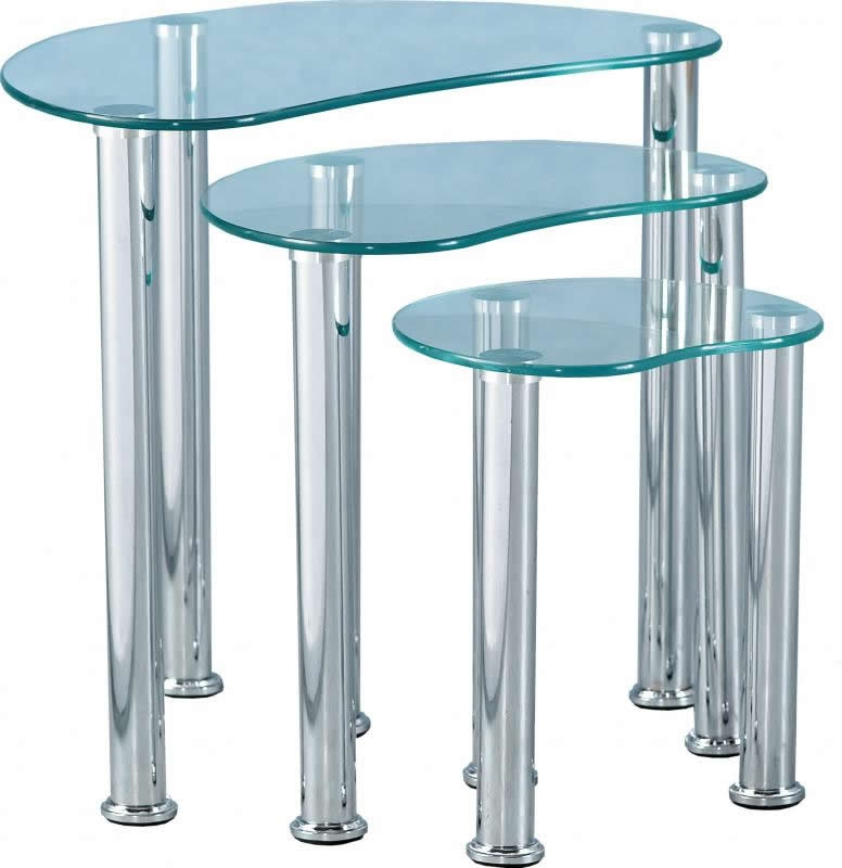 Cara Nest Of Tables - Clear