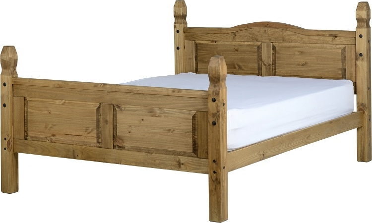 Corona King Size Bed - High