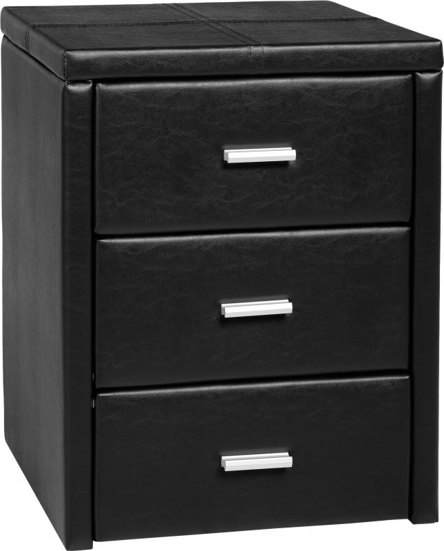 Prado Bedside Table - Black