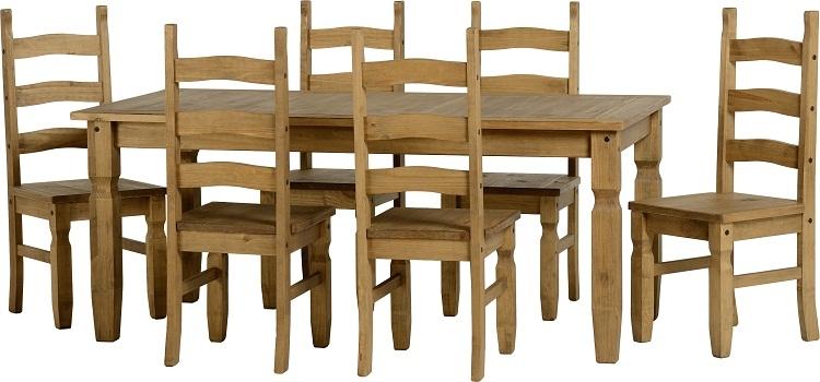 Corona Dining Set 6'