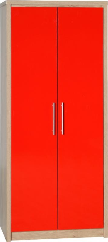 Sevile 2 Door Wardrobe - Red