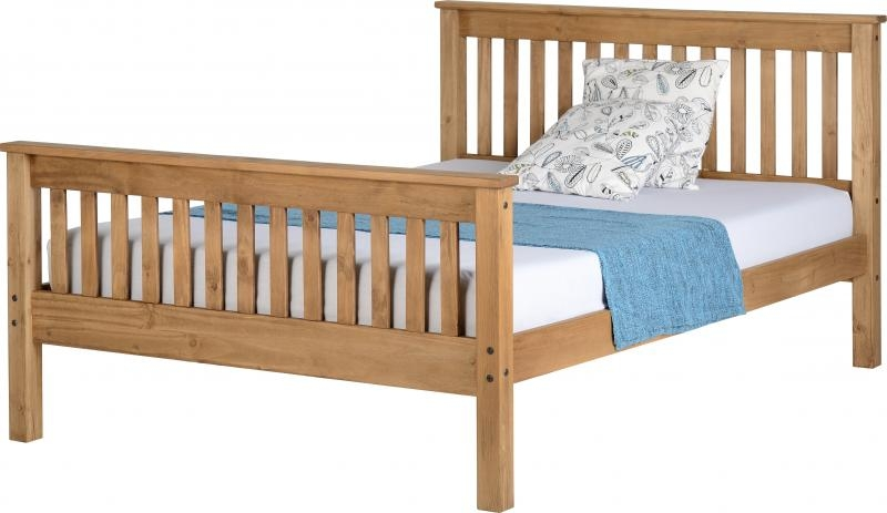 Monaco Double Bed High - Waxed
