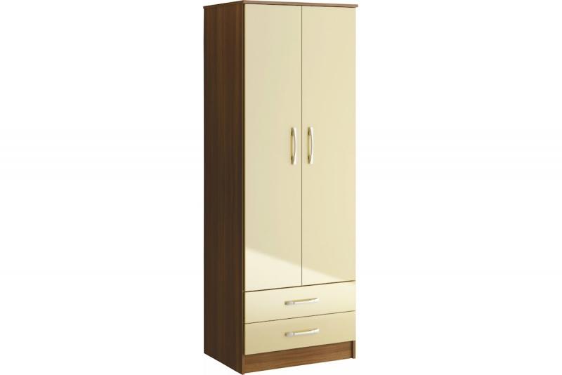 Lynx 2 Door 2Drw Wardrobe - Wc