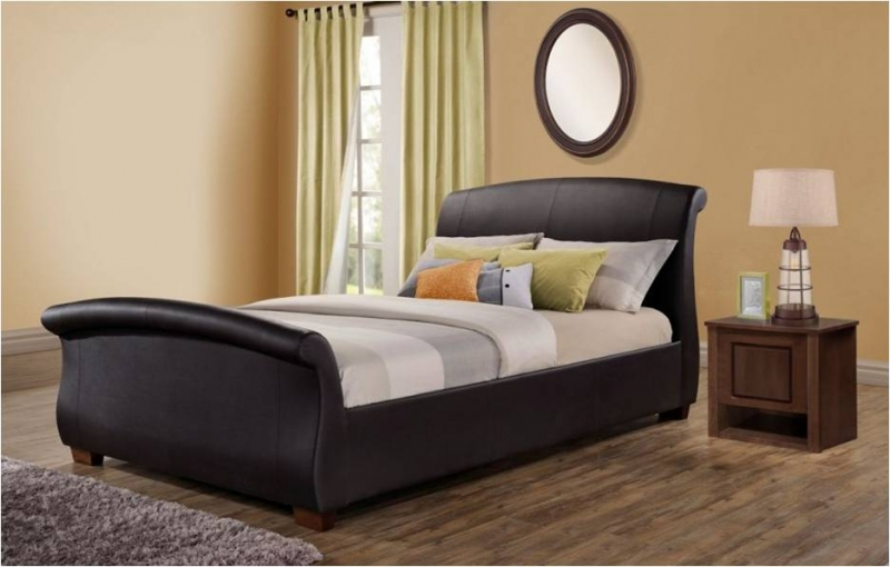 Barcelona Bed - Brown Pu