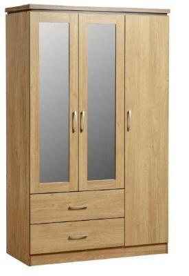 Charles 3 Door Wardrobe - Oak