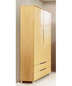 Lorenza 2 Door 2 Drawer Wardrobe Set 2