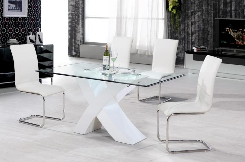 Arizona Dining Set - White Gloss