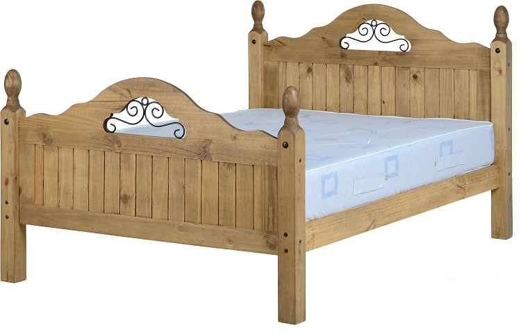 Corona Scroll  Double Bed High