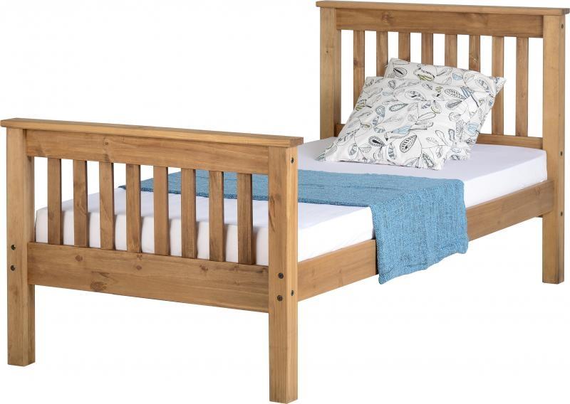 Monaco Single Bed High - Waxed