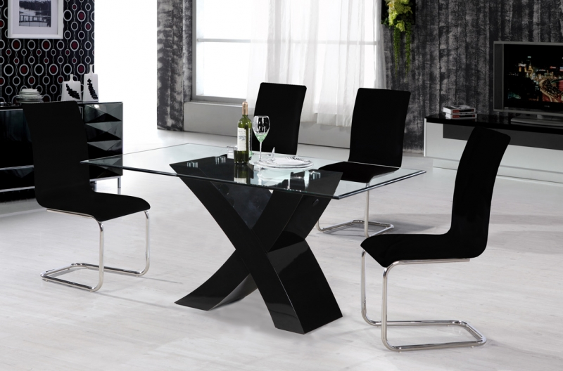 Arizona Dining Set - Black Gloss