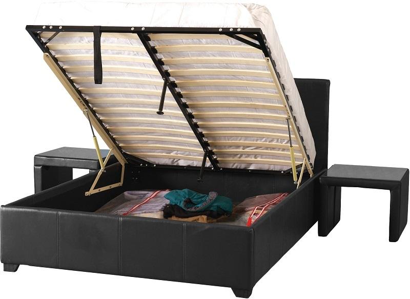 Prado Double Storage Bed - Blk