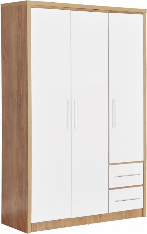 Seville 3 Door Wardrobe   White