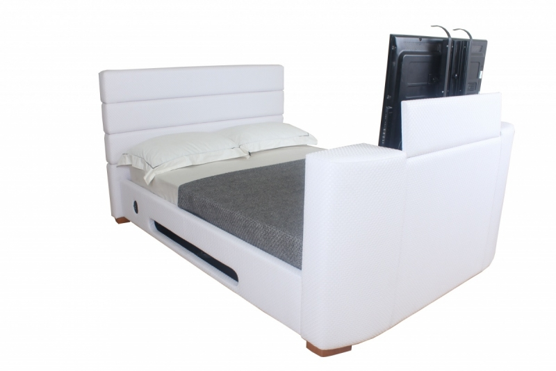Leather Headboard King Size Bed with TV 800 x 534