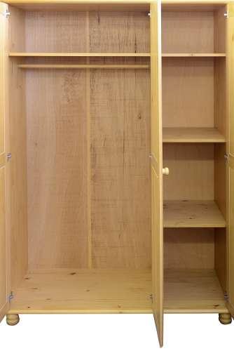 Pine 3 Door Wardrobe Flat Pack Furniture Flatpack2go