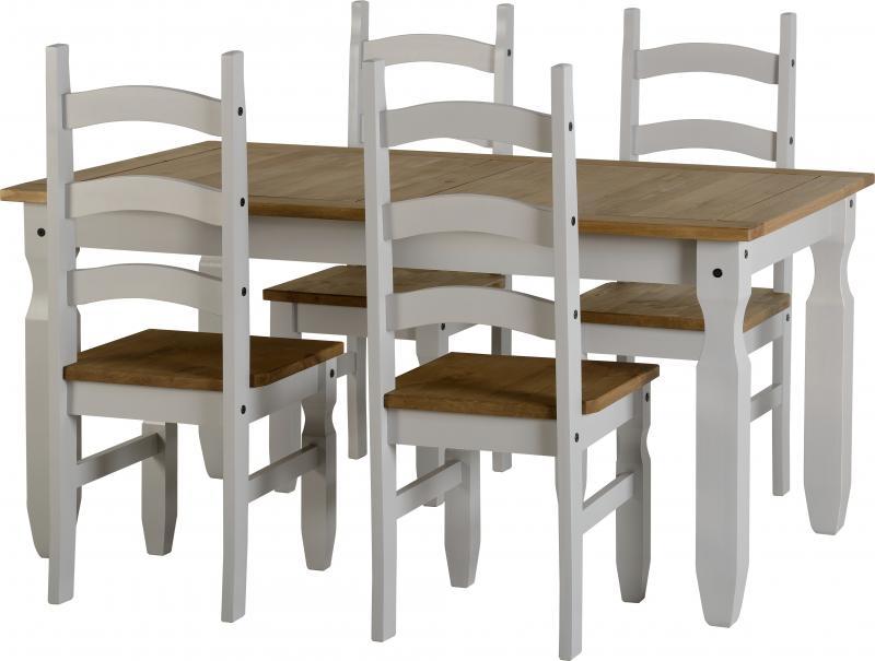 Corona Grey Dining Set Grey Living Room Furniture