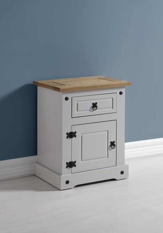 Corona Bedside Table Grey Bedside Tables