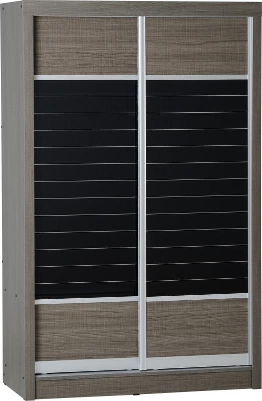 Charcoal Bedroom Furniture Lisbon Sliding Wardrobe
