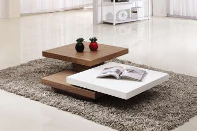 Ivana coffee table white coffee tables for Table 140 x 70