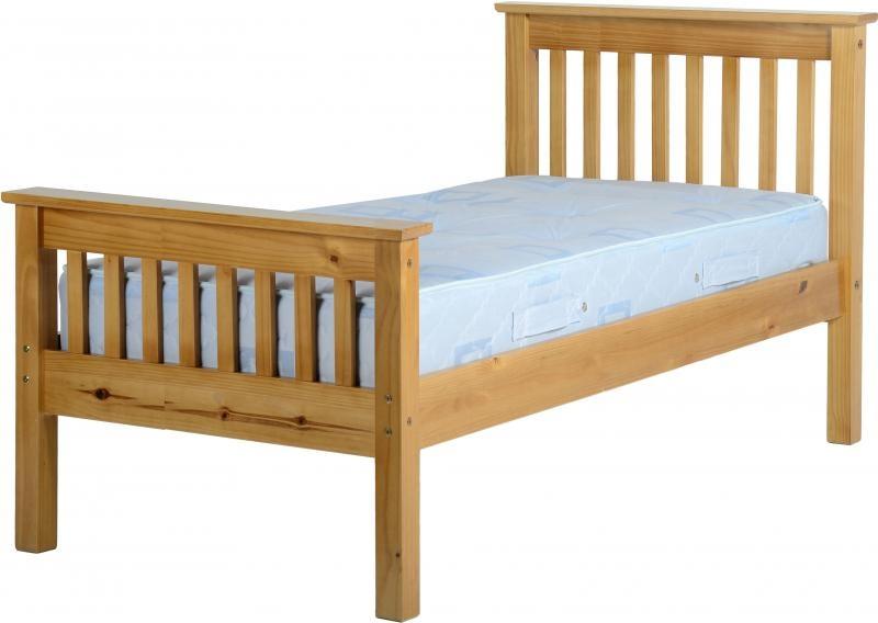 Monaco Single Bed High Pine Wooden Beds