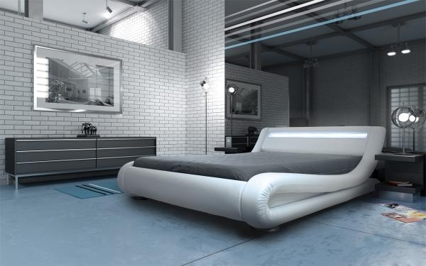 Madrid Led Bed White Modern Designer Beds