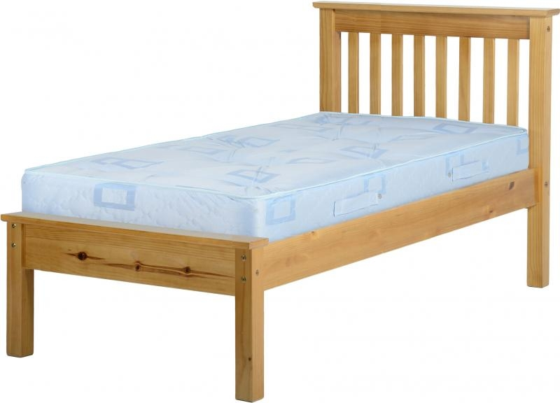 Monaco Single Bed Low Pine Wooden Beds