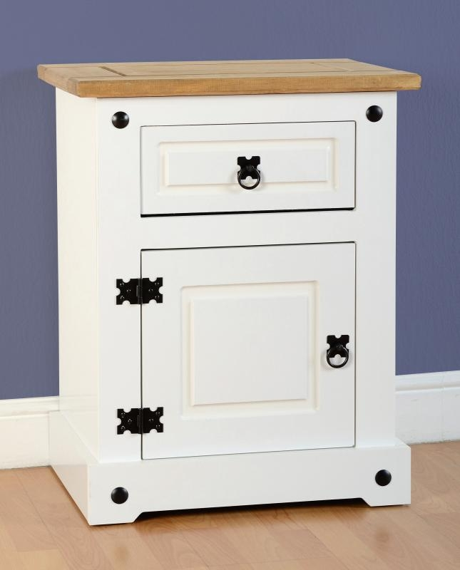 Corona Bedside Table White Bedside Tables
