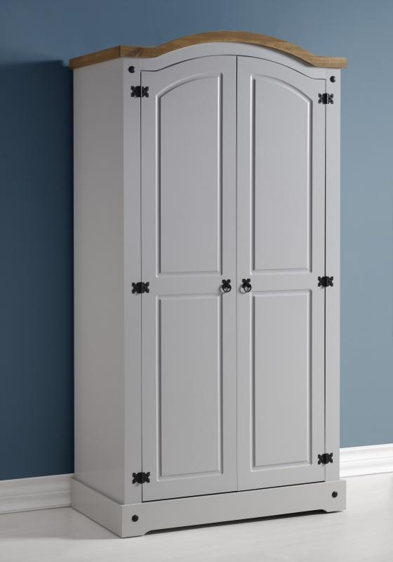 Corona 2 Door Wardrobe Grey Wardrobes