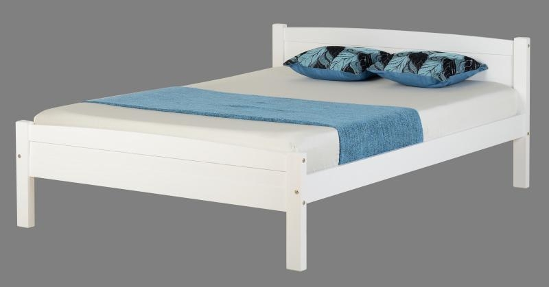 Amber Double Bed Finished In White From Flatpack2go