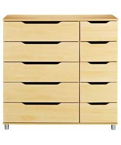 Clearance » Lorenza 5+5 Chest Of Drawers