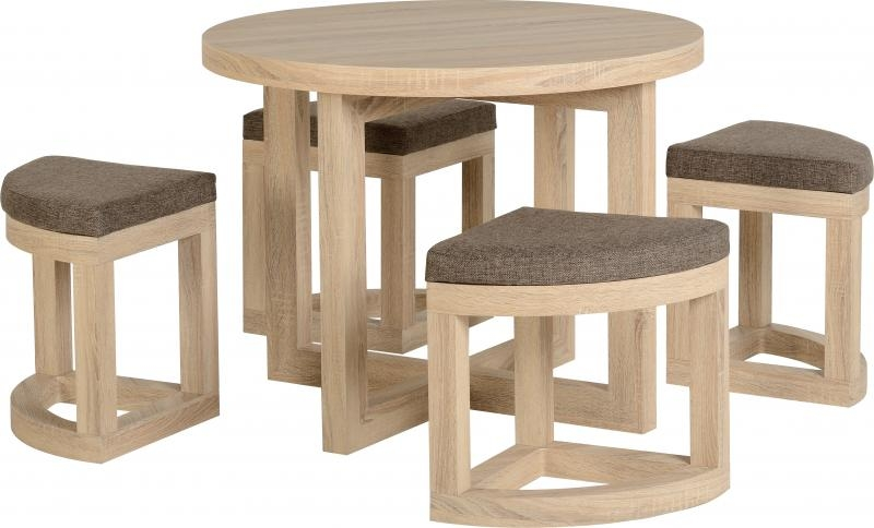 Cambourne stowaway dining set wooden dining sets for Stowaway dining table