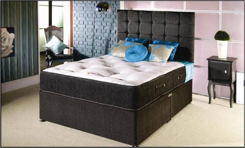 1000 pocket sprung divan bed and matress with memory foam for Divan beds with pocket sprung mattress