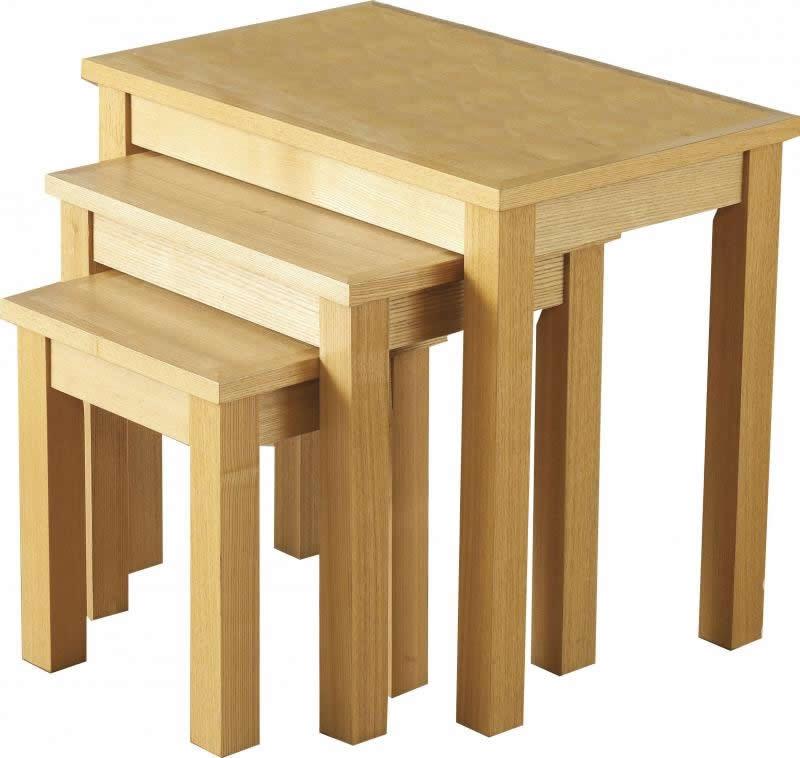 oakleigh nest of tables oak living room furniture. Black Bedroom Furniture Sets. Home Design Ideas