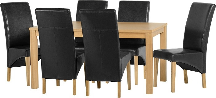 HD wallpapers belgravia oak dining table 6 cream chairs set