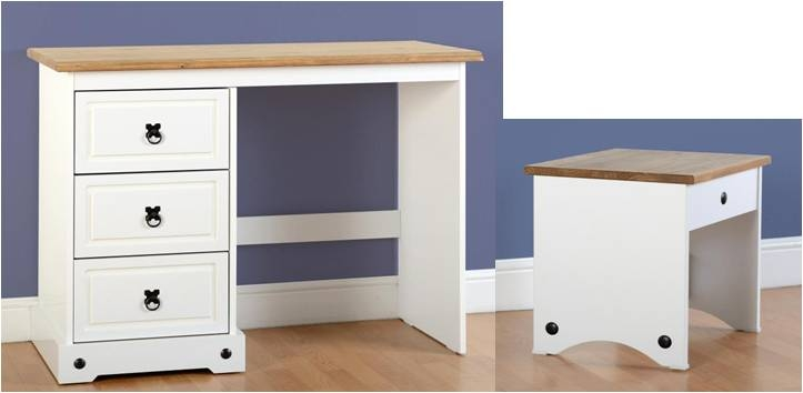 corona dressing table in white with stiil. Black Bedroom Furniture Sets. Home Design Ideas